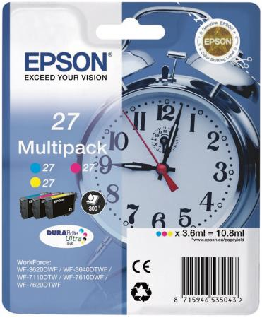 Картридж Epson C13T27124022 для Epson WF7110/7610 цветной original cc03main mainboard main board for epson l455 l550 l551 l555 l558 wf 2520 wf 2530 printer formatter