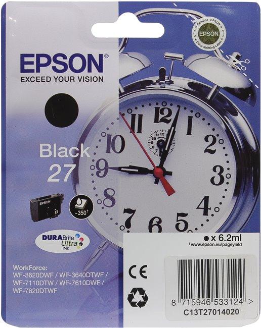 Картридж Epson C13T27014020 черный (black) 350стр для Epson WorkForce WF-3620/3640/7110/7610/7620 ink maintenance box chip resetter t6711 for epson for epson wf 3520 3530 3540 wf 3620 3640 wf 7510 7520 7610 7620 7110 printers