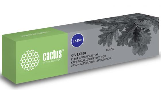 Картридж ленточный Cactus CS-LX350 для Epson LX350/LQ350/ERC19/VP80K черный принтер epson lx 350 матричный цвет черный [c11cc24031 ]