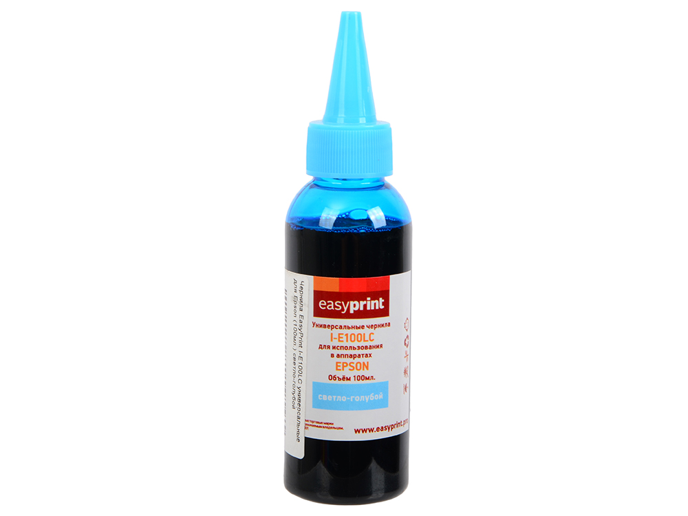 Чернила EasyPrint I-E100LC светло-голубой (light cyan) 100 мл для Epson чернила easyprint i c100c cyan для canon