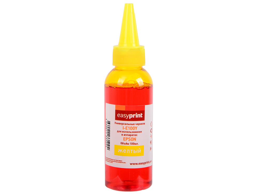 Чернила EasyPrint I-E100Y желтый (yellow) 100мл универсальные для Epson yellow 90