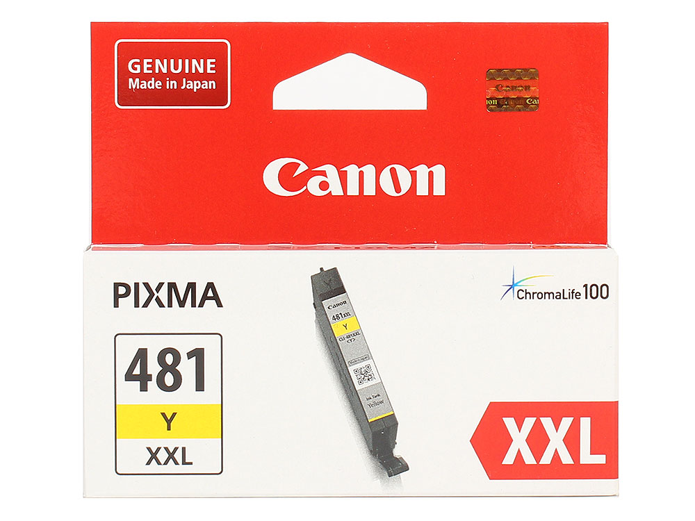 Картридж Canon CLI-481XXL Y EMB для TS6140/TS8140/TS9140/TR8540. Жёлтый. 824 страниц. картридж cactus cli 426c m y cs cli426c m y