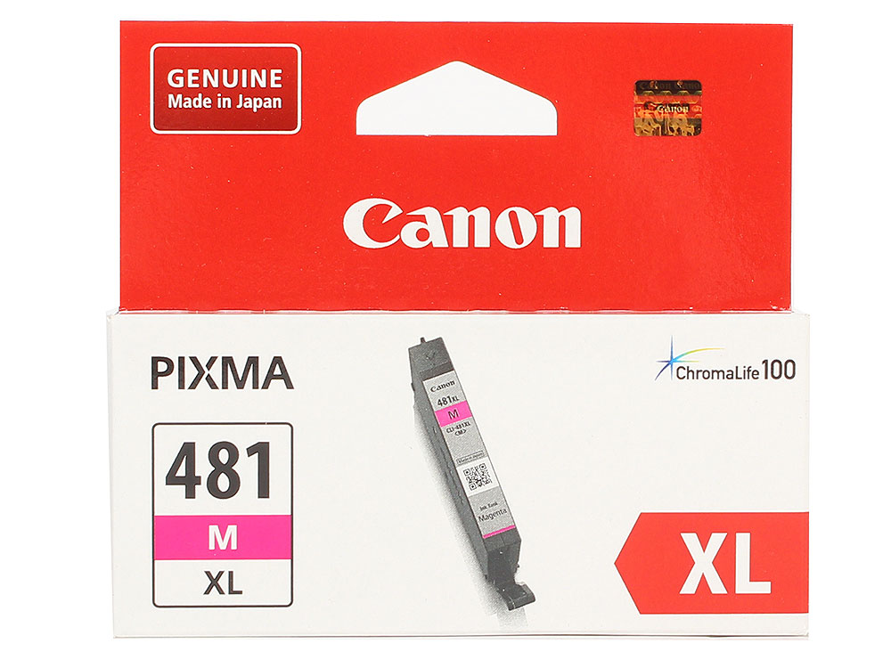 Картридж Canon CLI-481XL M EMB для TS6140/TS8140/TS9140/TR8540. Пурпурный. 466 страниц. картридж canon cli 481xl для canon pixmats8140ts ts9140 1010568 голубой