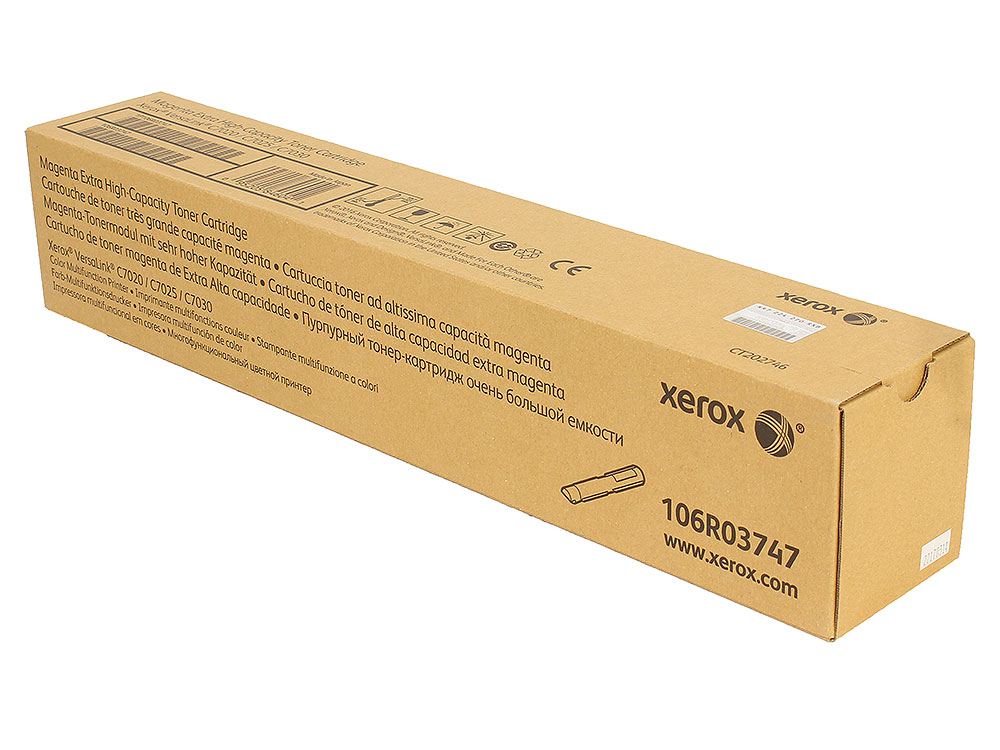Картридж Xerox 106R03747 пурпурный (magenta) 16000стр для Xerox VersaLink C7020/C7025/C7030 картридж xerox 106r03523 пурпурный magenta 4800 стр для xerox versalink c400 405