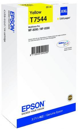 Картридж Epson C13T754440 для Epson WF-8090/8590 желтый картридж epson c13t754140 для epson wf 8090 epson wf 8590 черный