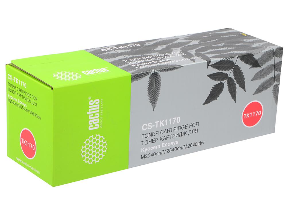 Картридж Cactus CS-TK1170 черный (7200стр.) для Kyocera Mita Ecosys M2040dn/M2540dn/M2540dw/M2640idw картридж nv print nvp tk 1170 для kyocera m2040dn m2540dn m2640idw 7200k