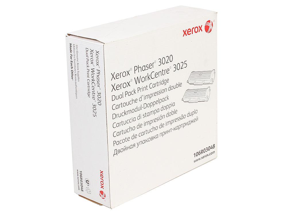 Картридж Xerox 106R03048 черный (black) 2x1500 стр. для Xerox P3020/WC3025 картридж для мфу xerox 013r00589 black