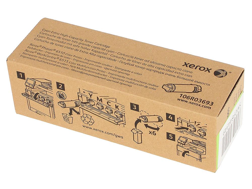 Картридж Xerox 106R03693 голубой (cyan) 4300 стр. для Xerox Phaser 6510 / WorkCentre 6515 картридж xerox 106r03481 голубой cyan 1000 стр для xerox p6510 wc6515