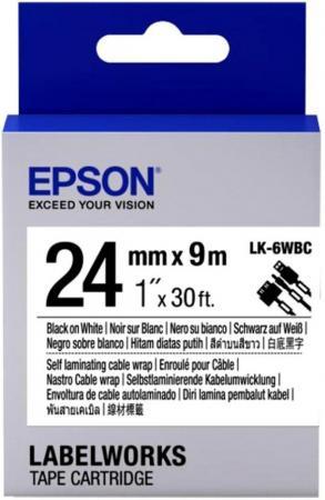 Лента Epson LK-6WBC C53S656901 лента epson lk 4sbm c53s654019