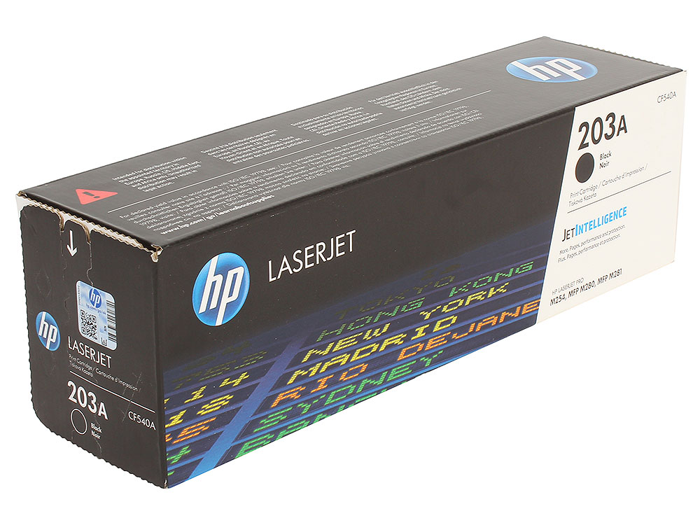 Картридж HP CF540A (HP 203A) для HP LaserJet M254/M280/M281. Чёрный. 1400 страниц. картридж sakura yellow sacf542a для hp color lj m254 mfp m280 281 1300к