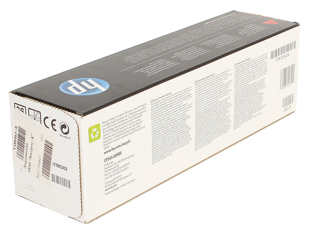 Картридж HP CF541A (HP 203A) для HP LaserJet M254/M280/M281. Голубой. 1300 страниц. new rf0 1008 rf0 1014 rl1 0303 for hp laserjet 1000 1150 1100 1200 1220 1300 3300 3330 3320 pickup roller separation pad