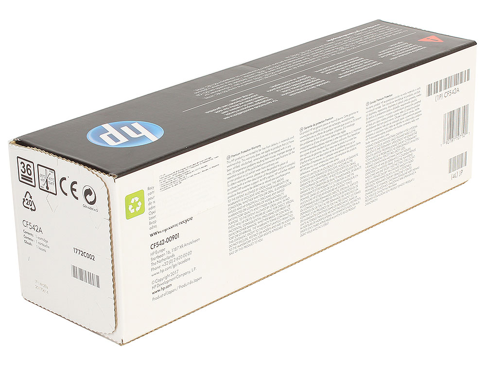 Картридж HP CF542A (HP 203A) для HP LaserJet M254/M280/M281. Жёлтый. 1300 страниц. new rf0 1008 rf0 1014 rl1 0303 for hp laserjet 1000 1150 1100 1200 1220 1300 3300 3330 3320 pickup roller separation pad