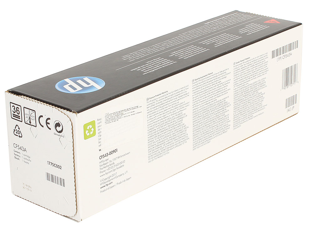 Картридж HP CF543A (HP 203A) для HP LaserJet M254/M280/M281. Пурпурный. 1300 страниц. new rf0 1008 rf0 1014 rl1 0303 for hp laserjet 1000 1150 1100 1200 1220 1300 3300 3330 3320 pickup roller separation pad