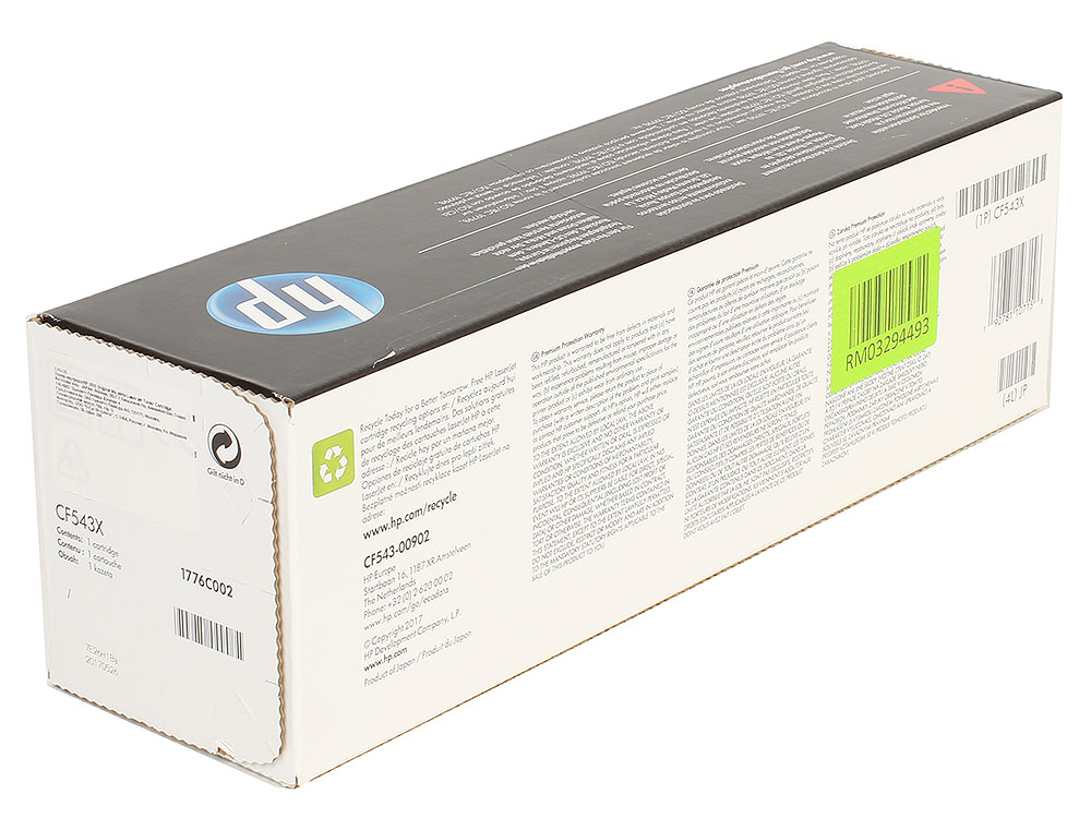 Картридж HP CF543X (HP 203X) для HP LaserJet M254/M280/M281. Пурпурный. 2500 страниц. sheli laptop motherboard for hp dv7 7000 682037 001 682037 501 hm77 630m 2g non integrated graphics card