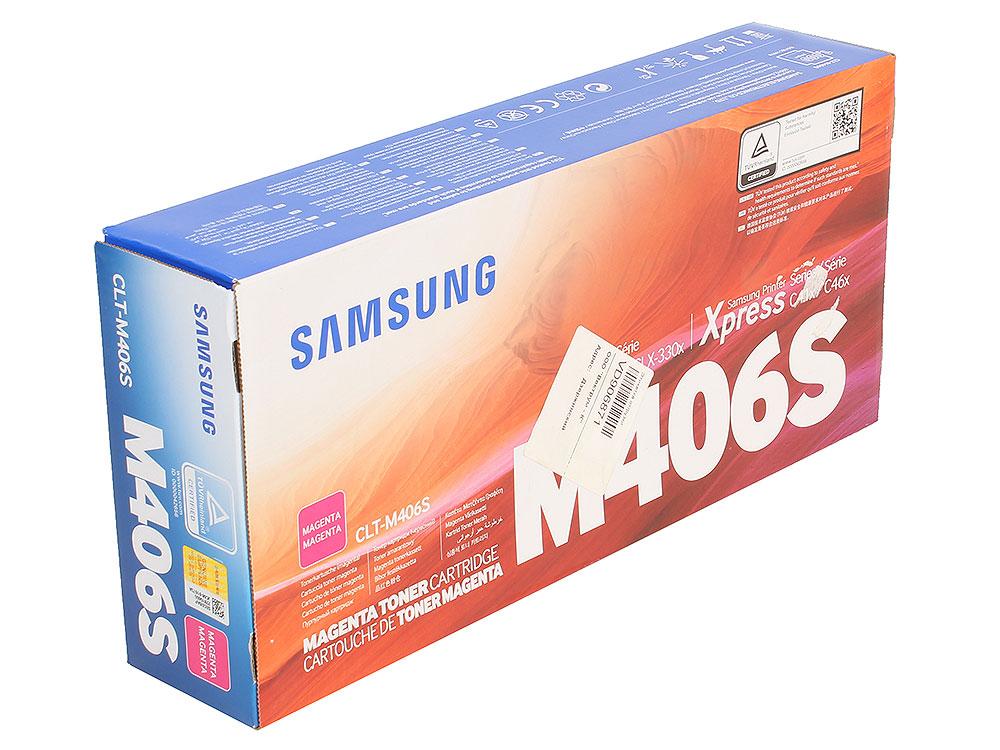 Картридж HP для Samsung CLT-M406S для CLP-360/365/CLX-3300/3305. Пурпурный. 1000 страниц. картридж samsung clt m406s magenta для clp 360 365 368 clx 3300 3305 1000стр