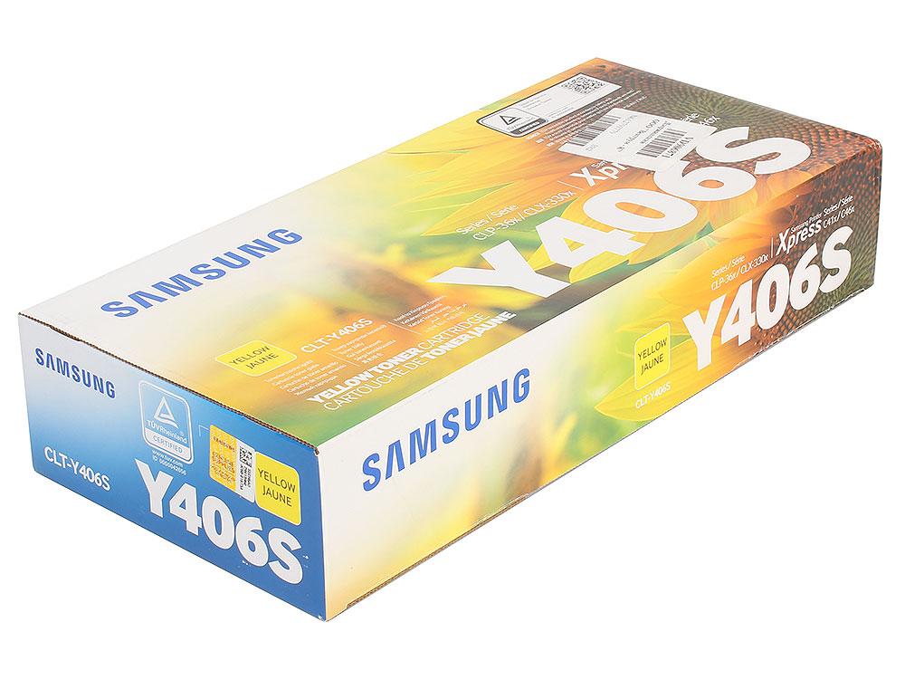 Картридж HP для Samsung CLT-Y406S для CLP-360/365/CLX-3300/3305. Жёлтый. 1000 страниц. картридж samsung clt y406s yellow для clx 3300 3305 clp 360 365
