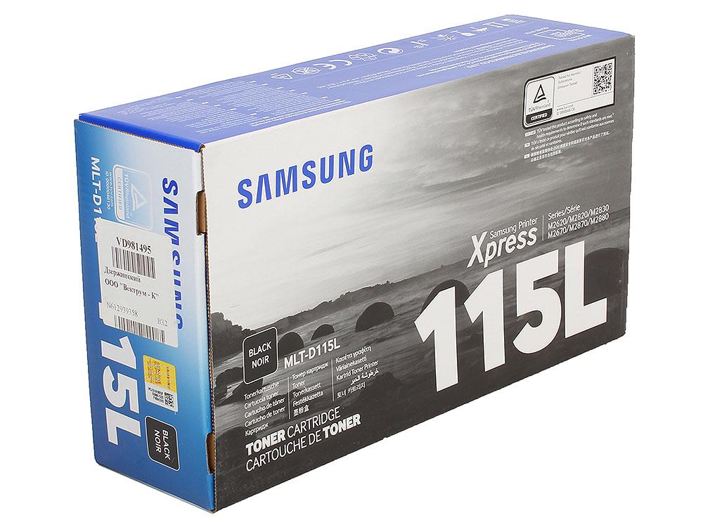 Картридж HP для Samsung MLT-D115L для M2620/2670/2820/2870/2880. Чёрный. 3000 страниц. картридж nv print для samsung mlt d115l sl m2620 2820 2870