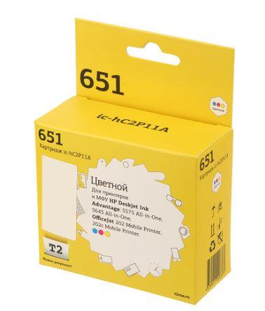 Картридж T2 IC-HC2P11A №651 для HP Deskjet Ink Advantage 5575/5645/OfficeJet 202/202c MobilePrinter, цветной форма профессиональная для изготовления мыла мк восток выдумщики 688758 1