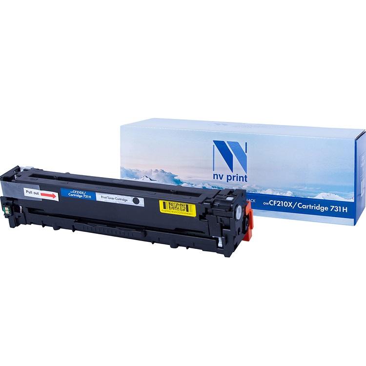 Картридж NV-Print HP CF210A/Canon 731 черный (black) 1600 стр для HP LaserJet Color Pro M251/276 / Canon LBP-7100/7110 картридж t2 для hp tc h85a laserjet p1102 1102w pro m1132 m1212nf m1214nfh canon i sensys lbp6000 cartrige 725 1600 стр с чипом