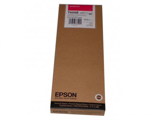 Картридж Original Epson [C13T606B00] для Epson Stylus Pro 4880 (220 мл) Magenta original print head for epson wp4515 wp4023 wp4091 wp4095 wp4511 wp4531 wp4525 wp4520 wp4533 wp4590 wp4530 wp4035 printhead