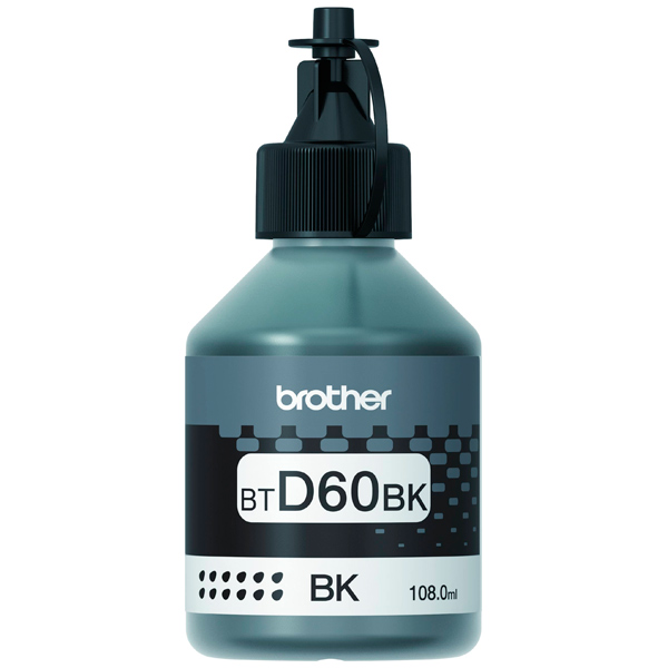 Чернила Brother BTD60BK черный (black) 108 мл для Brother DCP-T310/510W/710W / MFC-T910DW картридж brother btd60bk для brother dcp t310 t510w t710w черный 6500стр