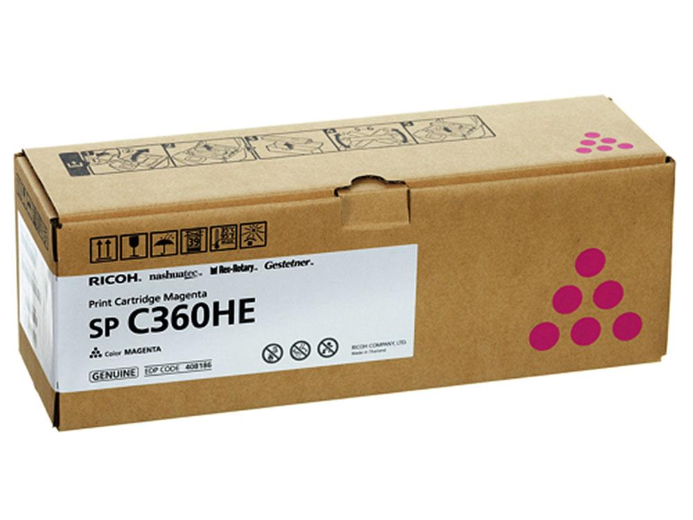 Принт-картридж Ricoh C360HE Пурпурный (magenta) 6000 стр. для Ricoh SP C360DN/360SNw/360SFNw/361SFNw картридж ricoh sp 230l черный black 1200 стр для ricoh sp 230dnw 230sfnw