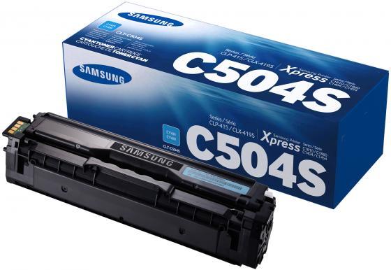 Картридж Samsung SU027A CLT-C504S для CLP-415/470/475/CLX-4170/4195 голубой картридж для принтера samsung clt c504s cyan