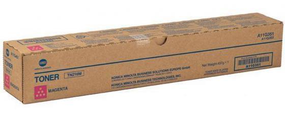 Тонер Konica Minolta TN-216M пурпурный (magenta) 26000 стр для Konica Minolta bizhub C220/280 1x minolta c500 upper fuser heat roller for konica minolta bizhub pro c500 cf5001 colorforce 8050 kl5100 4969 1026 01 65aa53010