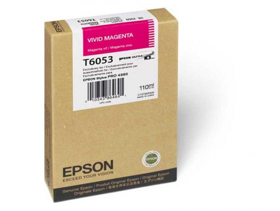 Картридж Epson C13T605300 для Epson Stylus Pro 4880 vivid magenta пурпурный original cc03main mainboard main board for epson l455 l550 l551 l555 l558 wf 2520 wf 2530 printer formatter