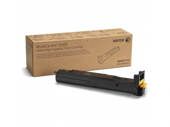 Тонер-Картридж Xerox 106R01319 для WC 6400 желтый 14000стр тонер картридж xerox 006r01156 для wc m24 желтый 15000стр