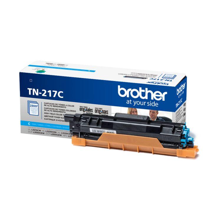 Картридж Brother TN217C голубой (cyan) 2300 стр. для Brother HL-L3230CDW / DCP-L3550CDW / MFC-L3770CDW fuser unit fixing unit fuser assembly for brother dcp 7020 7010 hl 2040 2070 intellifax 2820 2910 2920 mfc 7220 7420 7820 110v