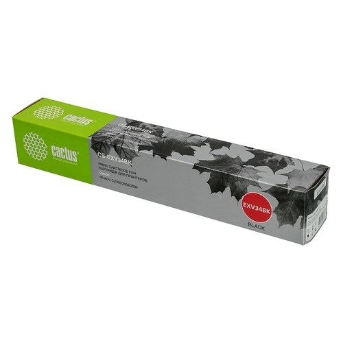 Тонер Картридж Cactus CS-EXV34BK черный (23000стр.) для Canon IR Advance C2030L/C2030i/C2020L/C2020i