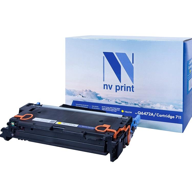 Картридж NV-Print HP Q6472A/Canon 711 желтый (yellow) 4000 стр. для HP LaserJet Color 3505/3600/3800 / Canon LBP-5300/5360 / MF-9130/9170/9220Cdn/9280Cdn hot sales 80 printhead for hp80 print head hp for designjet 1000 1000plus 1050 1055 printer