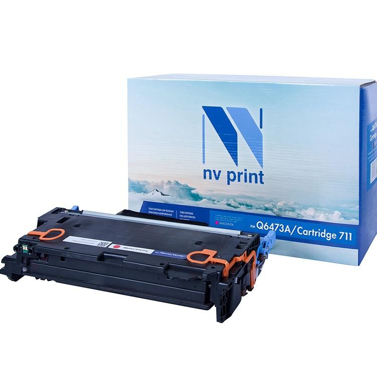 Картридж NV-Print HP Q6473A/Canon 711 пурпурный (magenta) 4000 стр. для HP LaserJet Color 3505/3600/3800 / Canon LBP-5300/5360 / MF-9130/9170/9220Cdn/9280Cdn