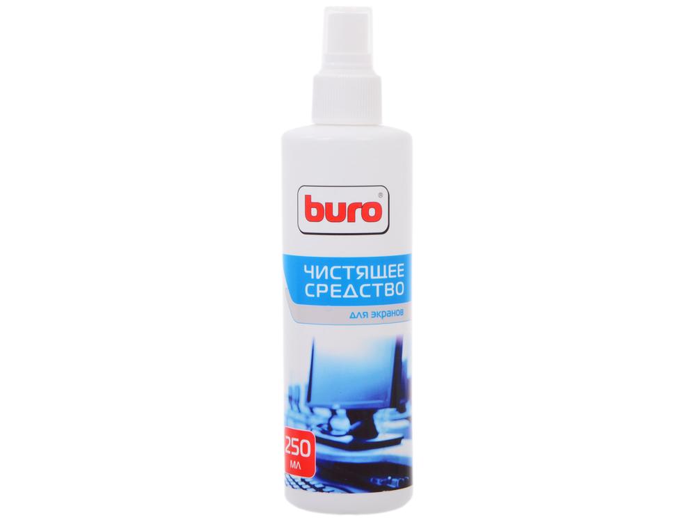 Спрей BURO BU-Sscreen (для чистки экранов) 250 мл чистящий набор buro bu s mf для экранов и оптики блистер микрофибра спрей 100мл