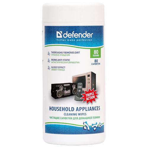 Чистящие салфетки для домашней техники Defender (80 шт) Eco CLN 30850 салфетки для поверхностей defender cln 30103 pro 30103