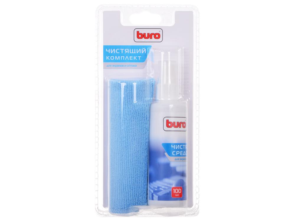 Чистящий набор Buro BU-S/MF для экранов и оптики, блистер/микрофибра/спрей 100мл спрей buro bu snote для ноутбуков 250мл
