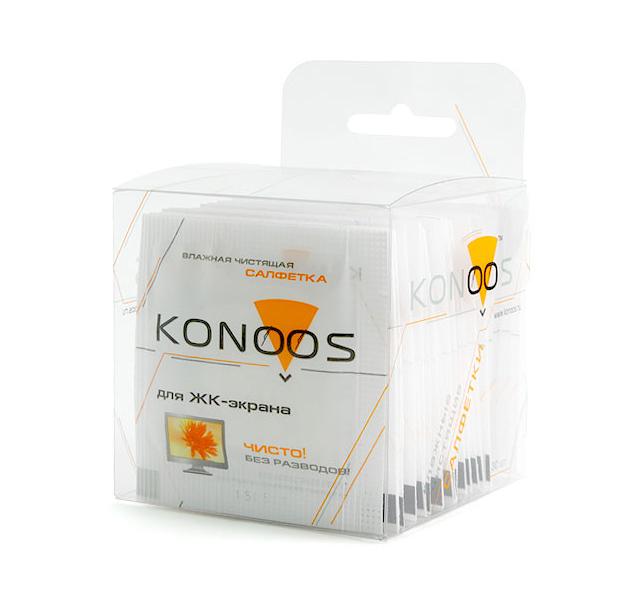Чистящие салфетки для ЖК-экранов 20 шт, Konoos KTS-20