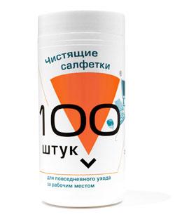 Салфетки для комп. техники в банке, 100 шт, Konoos KBU-100 цена