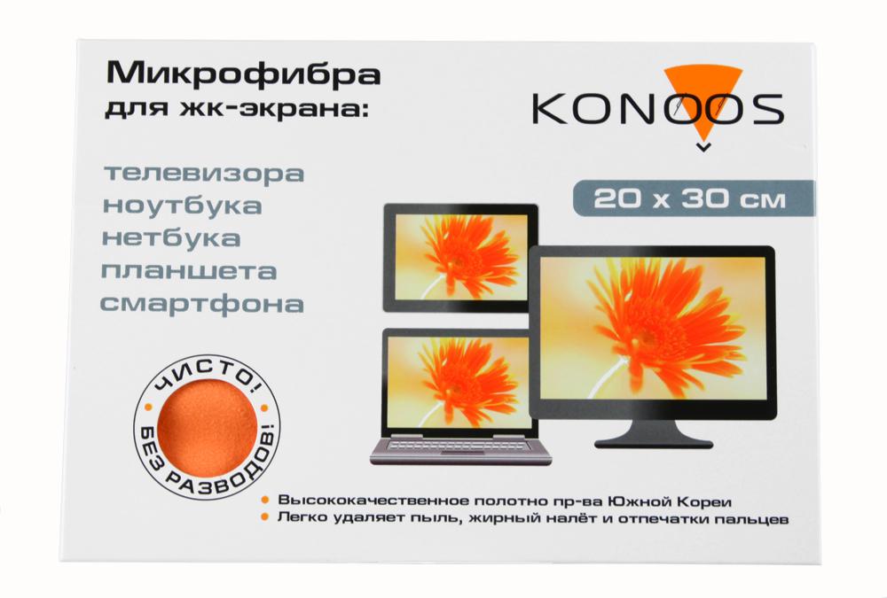 Салфетка из микрофибры для ЖК-телевизоров, 20 х30 см, Konoos KT-1