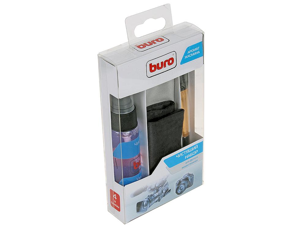 Чистящий набор Buro BU-Photo+Video портативный для фото и видеотехники, (коробка/микрофибра/кисточка чистящие средство techpoint 2001 комплект для очистки фото видеотехники микрофибра спрей