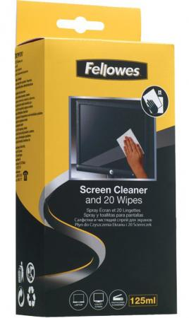 Спрей Fellowes FS-99701 для чистки экранов 125мл и 20 абсорбирующих салфеток 99701 CRC-99701