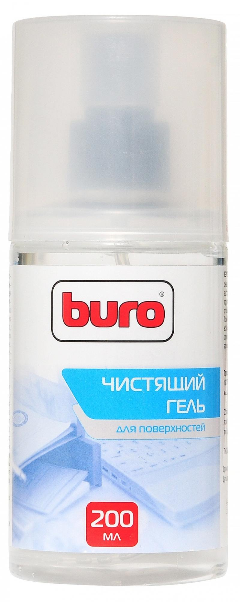 Набор для ухода за техникой BURO BU-GSURFACE 200 мл + салфетка из микрофибры buro салфетка buro bu mf из микрофибры 25 х 25 см для удаления пыли коробка 1шт сухая