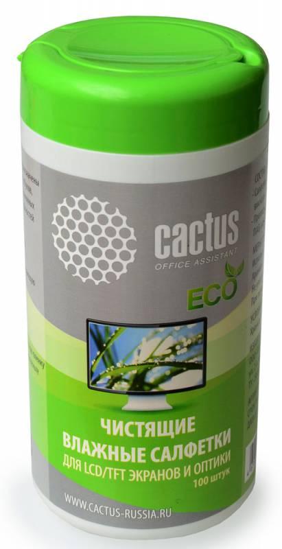 Влажные салфетки Cactus CS-T1001E 100 шт