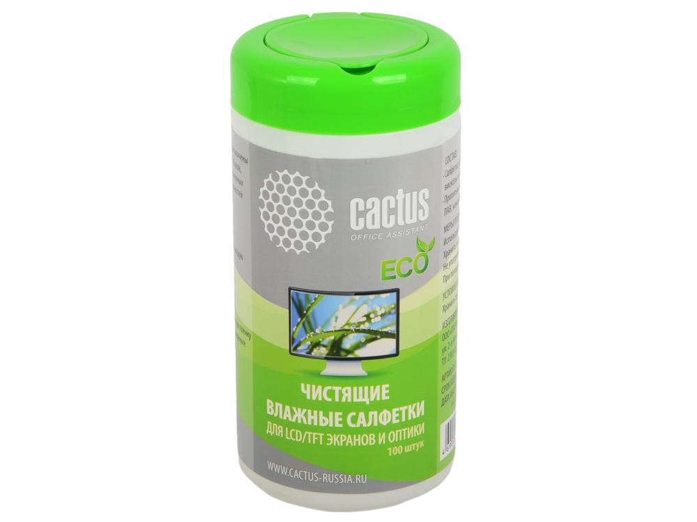 Влажные салфетки Cactus CS-T1001E 100 шт cactus print makeup bag