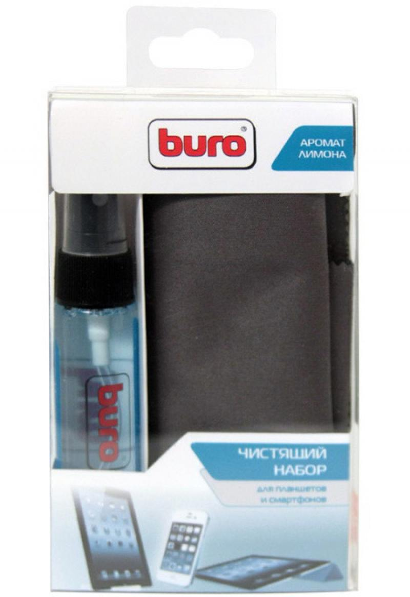 Набор для ухода за техникой BURO BU-Tablet+Smartphone 30 мл набор для ухода за техникой buro bu gsurface 200 мл салфетка из микрофибры