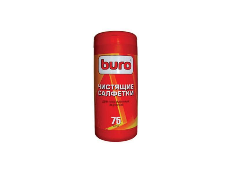 Чистящие салфетки Buro BU-TPSM для ухода за плазменными экранами туба 75шт