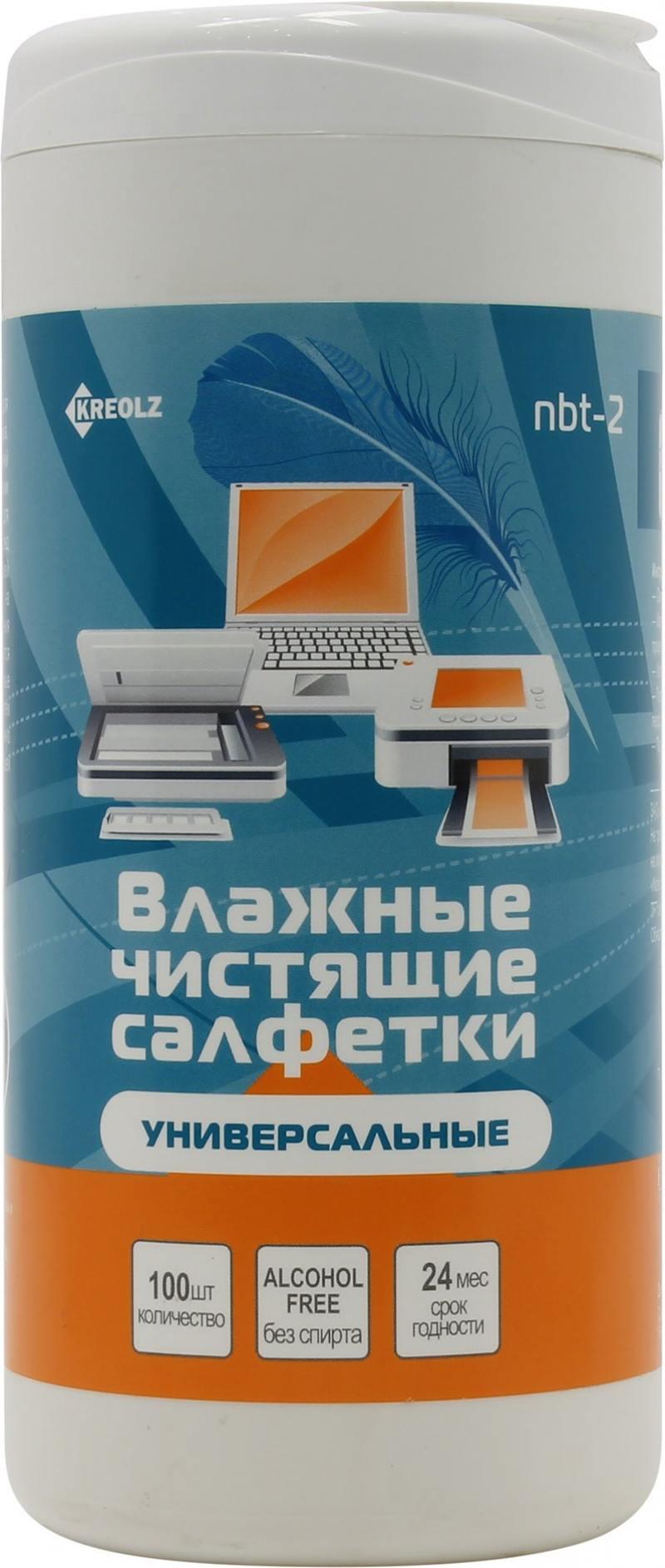 цена на Чистящие салфетки Kreolz NBT-2 100 шт