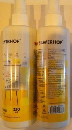 Спрей-очиститель для маркерных досок Silwerhof White Board Clean 250мл 671209