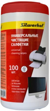 Чистящие салфетки Silwerhof 671213 100 шт